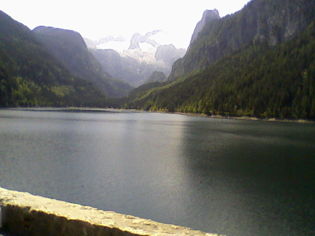 Gosausee with mountain Dachstein