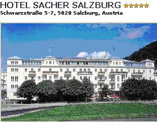 HOTEL SACHER***** - The Hotel Sacher Salzburg - formerly Hotel Österreichischer Hof, built by Carl Freiherr von Schwarz - is situated in the heart of Salzburg. The Gürtler Family has been managing this traditional hotel since 1988 - it is thus perfectly complementary to the Hotel Sacher Wien. The location is unique - directly on the bank of the Salzach river and facing Salzbourg's old town. All our rooms are indiviually furnished and you can enjoy our international cuisine as well as our local specialities. Double room with bath/shower/WC breakfast buffet