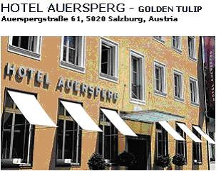 "HOTEL AUERSPERG **** - The Golden Tulip hotel Auersperg is quietly located in the city center, only a five minute stroll to the ""Sound of Music"" setting of the Mirabell Palace and the Gardens.The Raschhofer family has been running this elegant hotel for three generations and their hospitality and dedication are your guarantee of a pleasant stay. The impressive marble floored reception area is replete with period furniture and antiques and is combined with temporary designs. Double room with bath/shower/WC breakfast"
