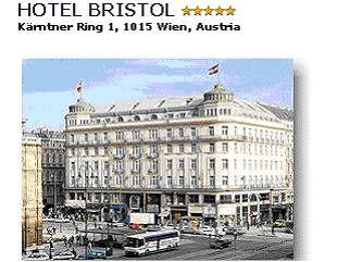 Hotel Bristol***** - In the heart of the city, across from the Vienna State Opera and near famous city sights, the Hotel Bristol is uniquely placed for business travellers and holiday visitors. Unique antiques and original works of art decorate each of the guest rooms and suites. Attentive Bristol-Service is the perfect complement to the hotels physical comforts. Since 1892, the Bristol has represented the cosmopolitan hub of Viennese social, cultural and business life, combining its rich past with its contemporary comforts. Double room with bath/shower/WC breakfast buffet