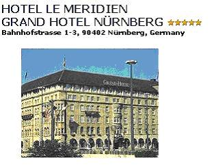 HOTEL LE MERIDIEN***** - One hundred years ago this magnificent mansion with the hops storage was converted into a luxury hotel: it offers elegant rooms decorated with Art Nouveau elements and marble bathrooms. Imposing lobby. Double room with bath/shower/WC breakfast